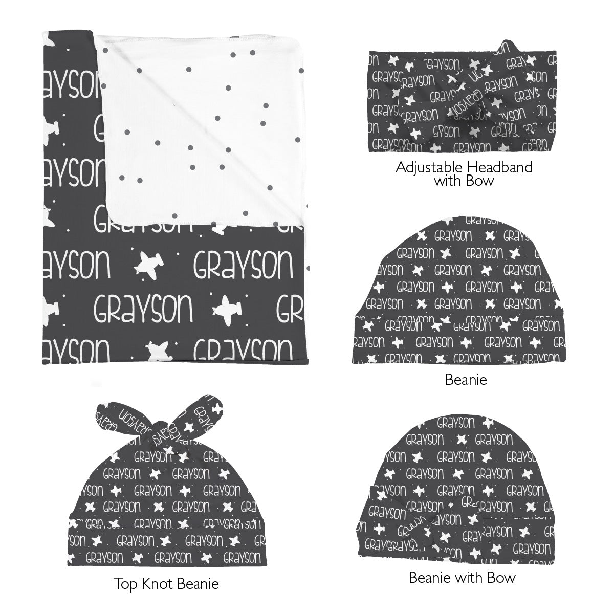Grayson's Airplanes | Swaddle Set