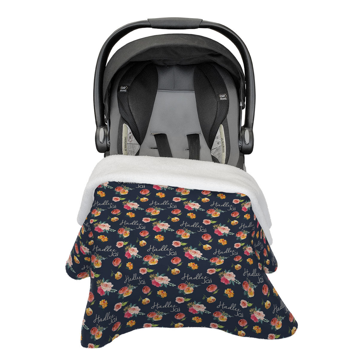 Hadlee's Fall Garden | Rose Garden | Car Seat Blanket