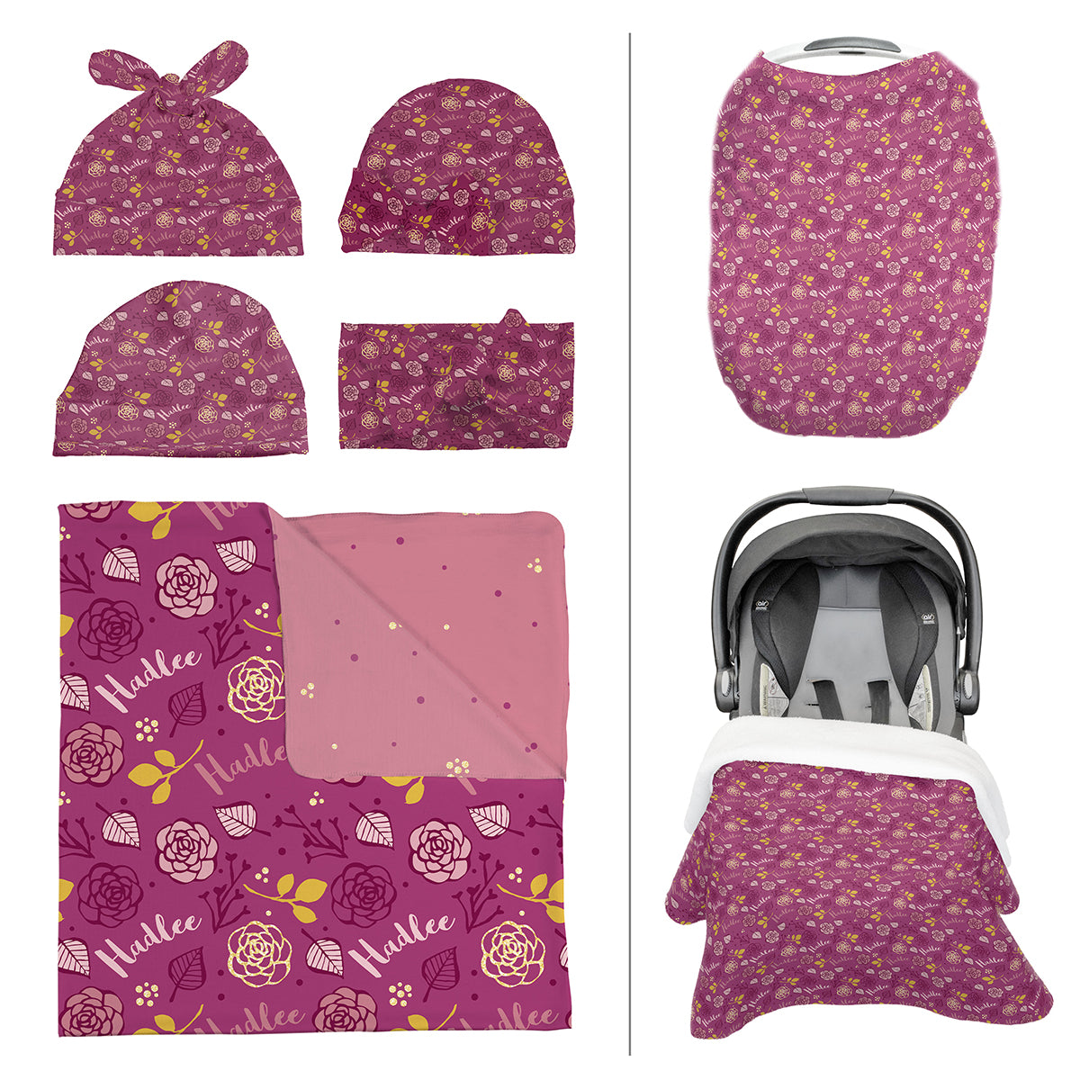 Hadlee's Plum Floral | Take Me Home Bundle