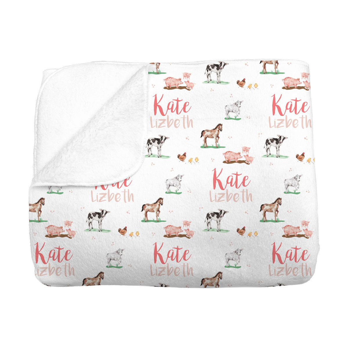 Hannah's Farm Animals | Big Kid Blanket