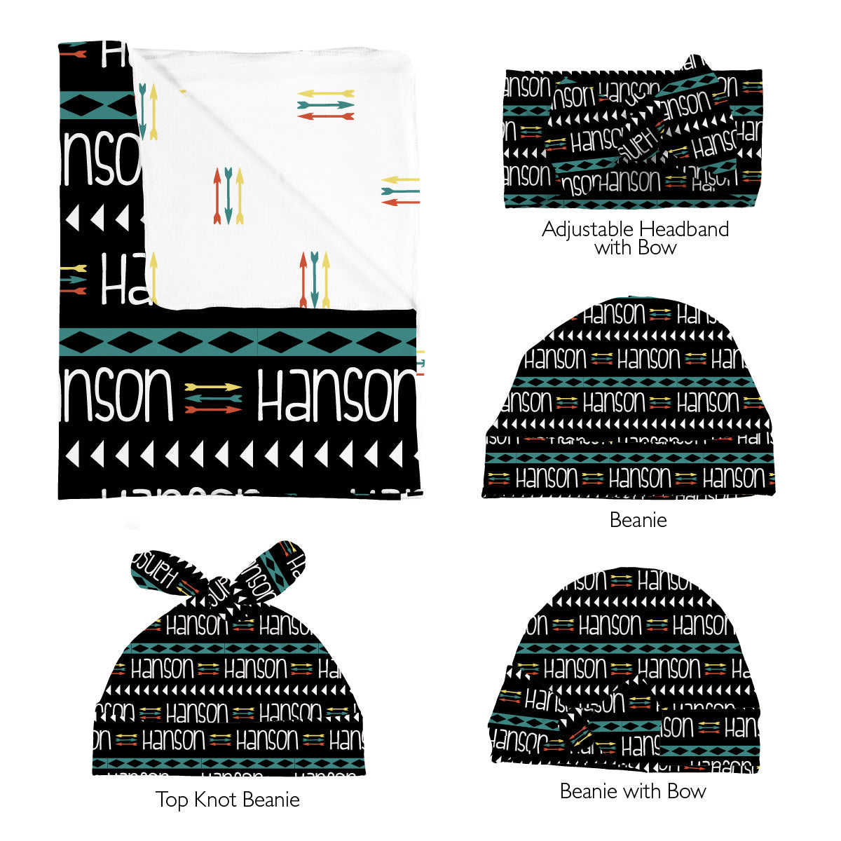 Hanson's Aztec and Arrows | Swaddle Set