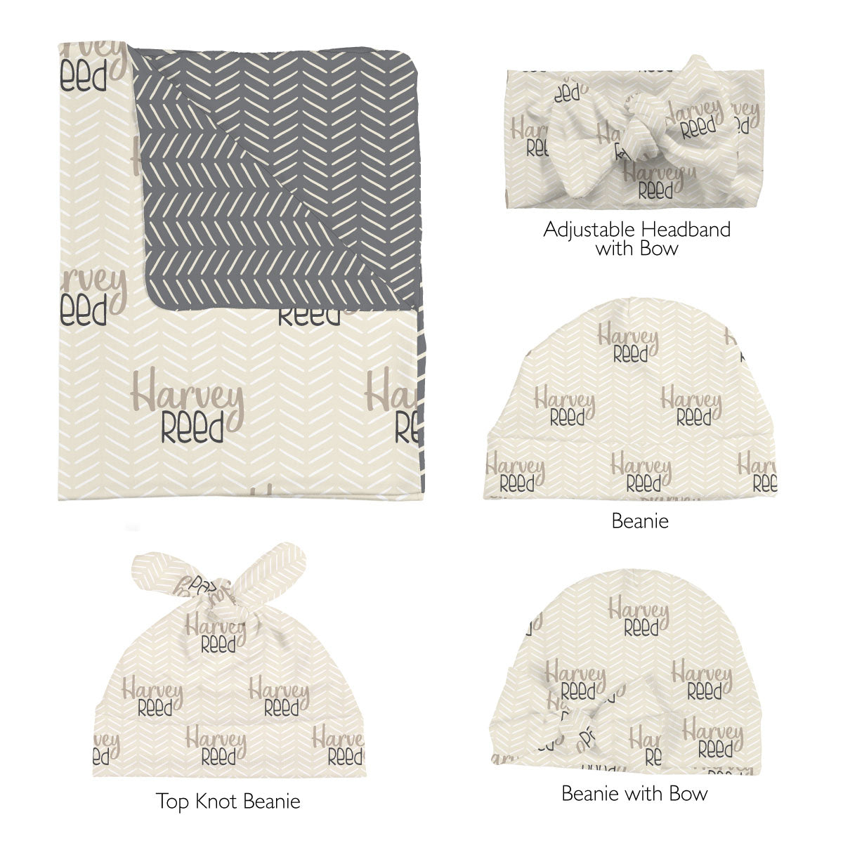 Harvey's Modern Herringbone | Swaddle Set