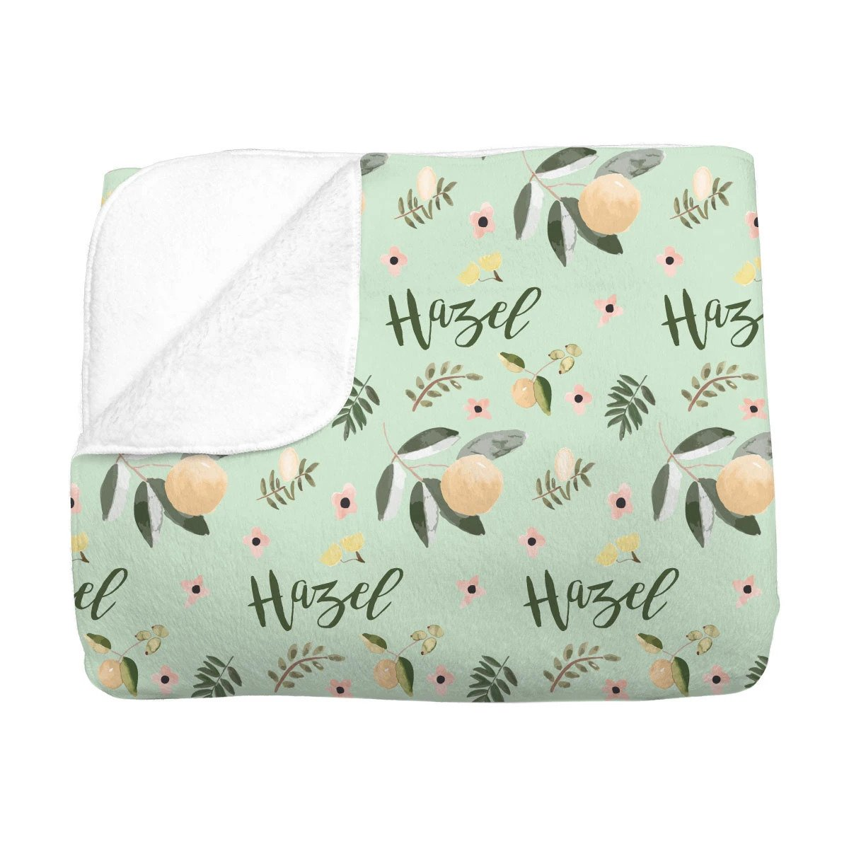 Hazel's Orange Blossoms | Big Kid Blanket