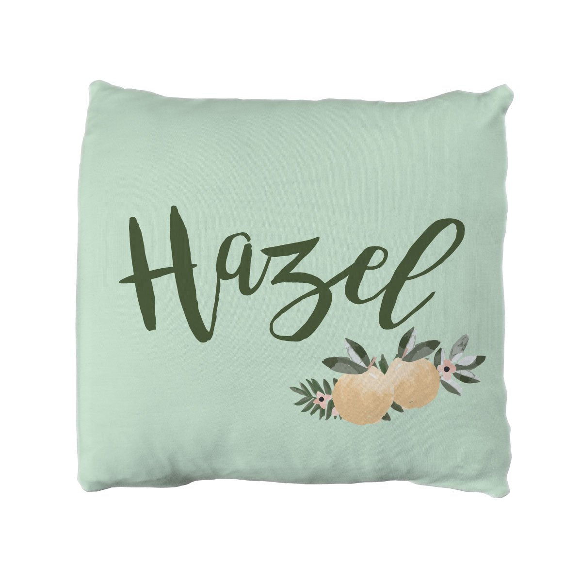 Hazel's Orange Blossoms | Big Kid Throw Pillow
