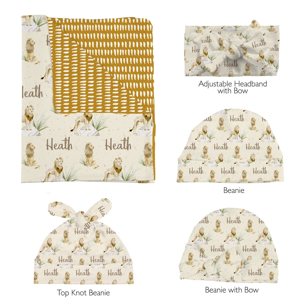 Heath's Lion Pride | Swaddle Set