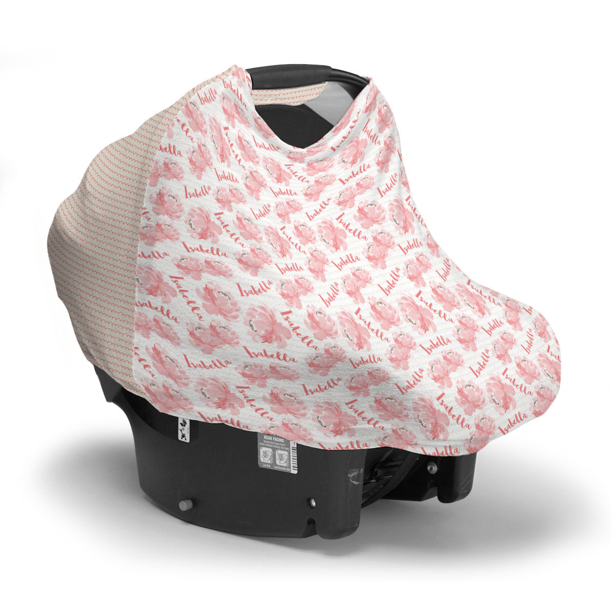 Isabella's Scallops and Peonies | Car Seat Cover (Multi-Use)