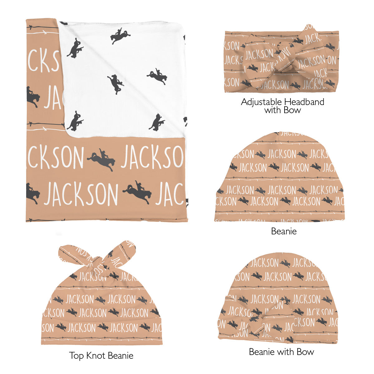 Jackson's Bucking Bronco | Swaddle Set