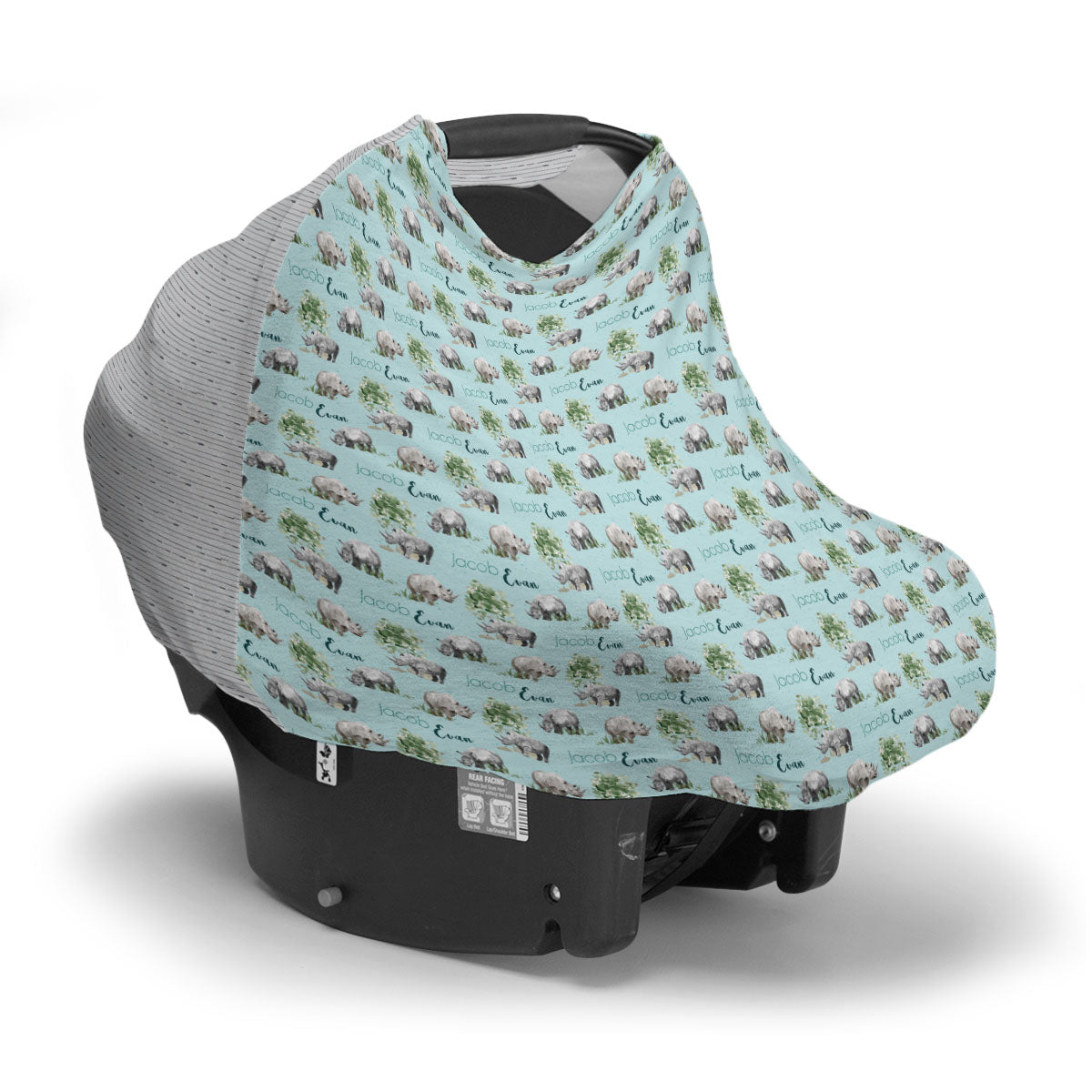 Jacob's Mighty Rhino | Car Seat Cover (Multi-Use)