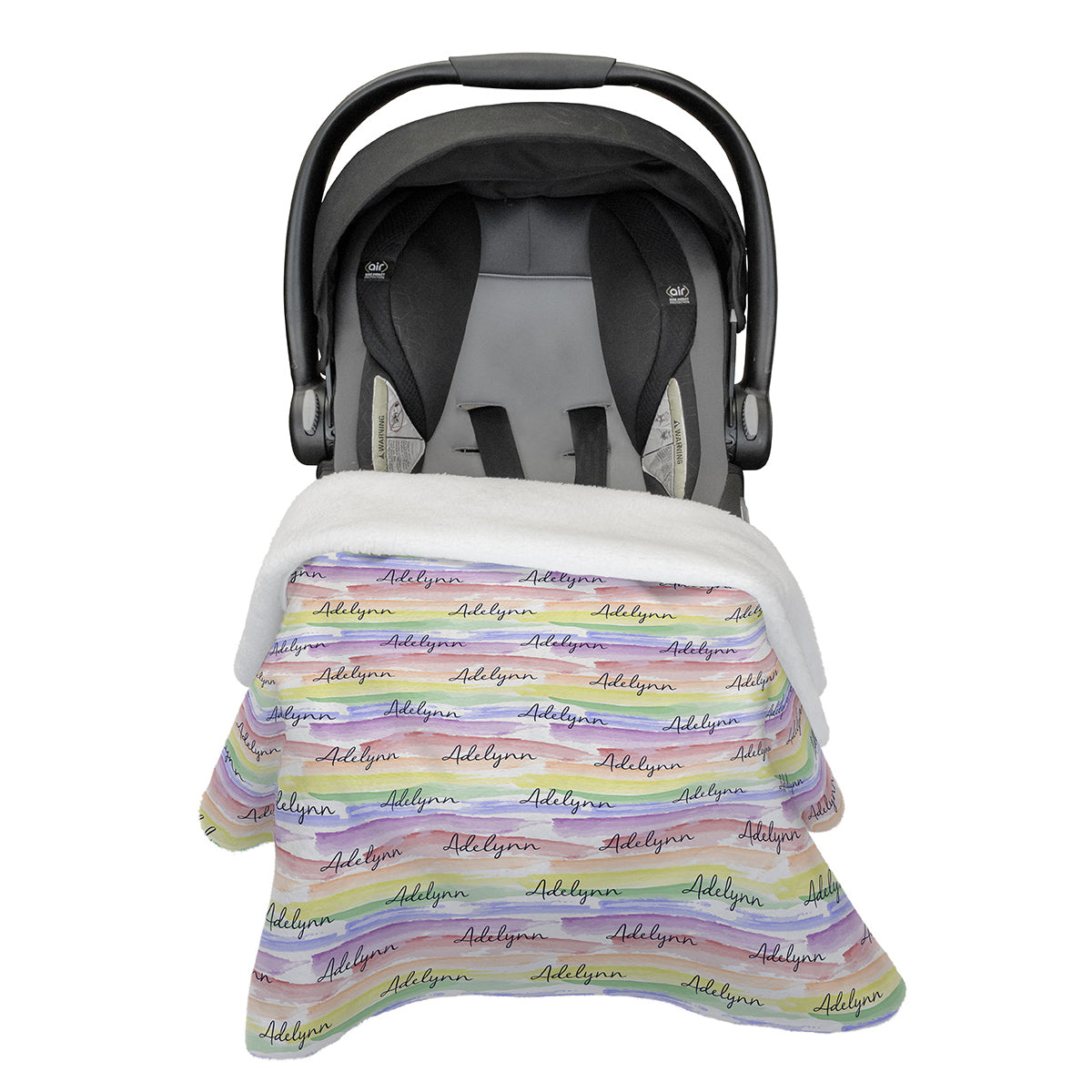 Jayla's Watercolor Rainbow | Car Seat Blanket