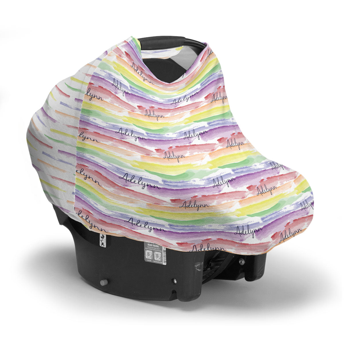 Jayla's Watercolor Rainbow | Car Seat Cover (Multi-Use)