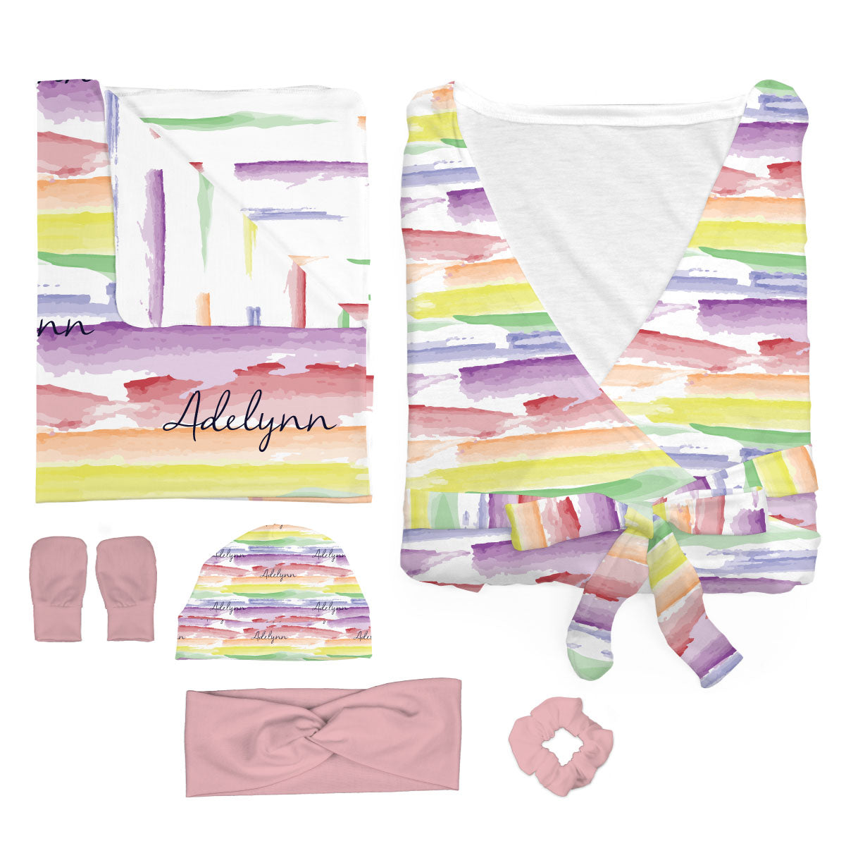 Jayla's Watercolor Rainbow | Mommy and Me Bundle