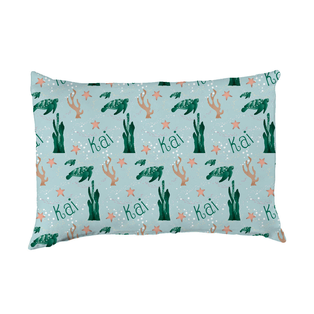 Kai's Serene Sea Turtle | Big Kid Pillow Case