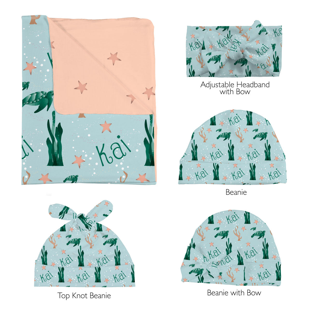Kai's Serene Sea Turtle | Swaddle Set