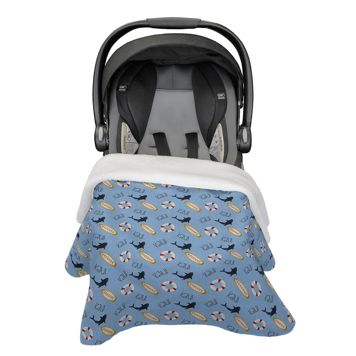 Kaui's Open Surf | Car Seat Blanket