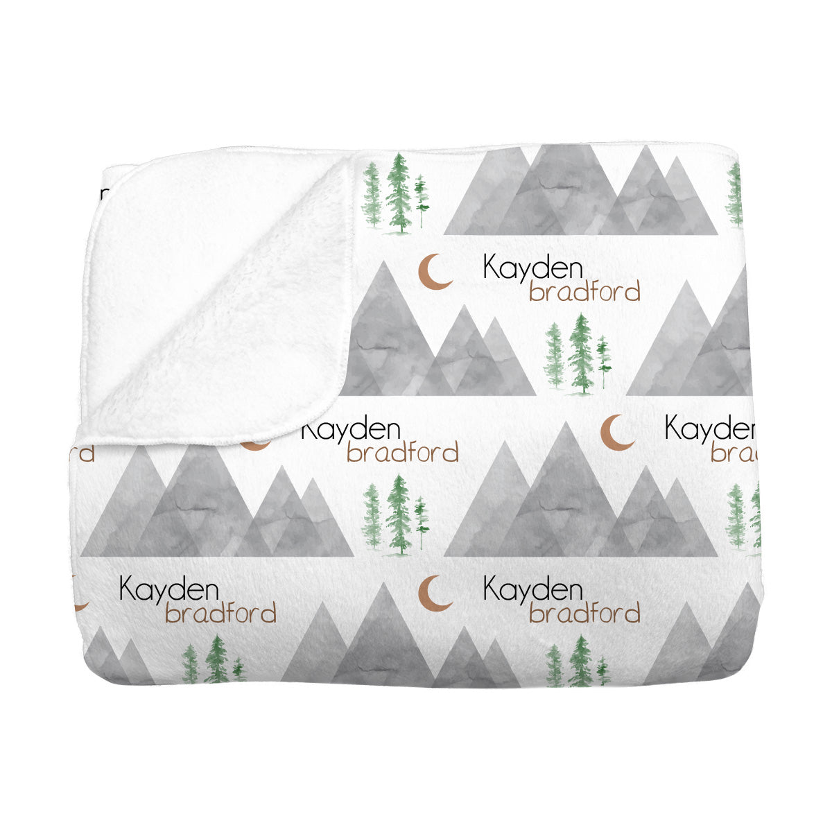 Kayden's Midnight Mountain | Big Kid Blanket
