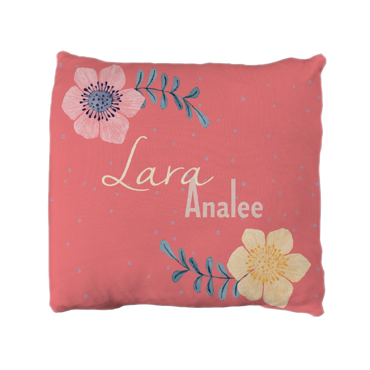 Lara's Fairy Floral | Big Kid Throw Pillow