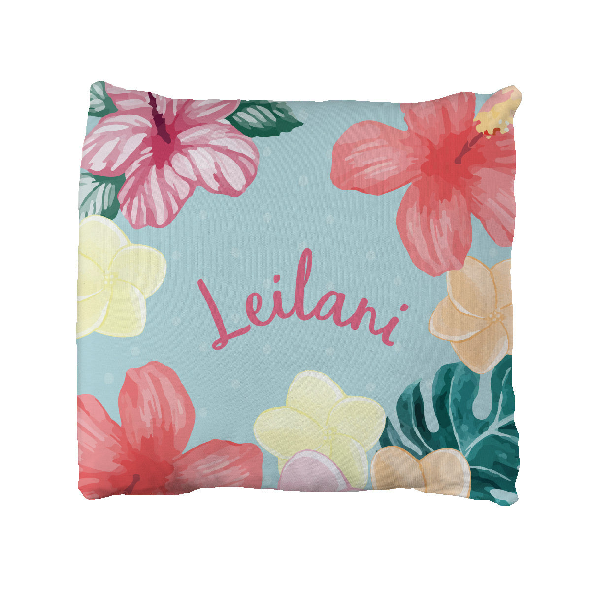 Leilani's Hawaiian Floral | Big Kid Throw Pillow
