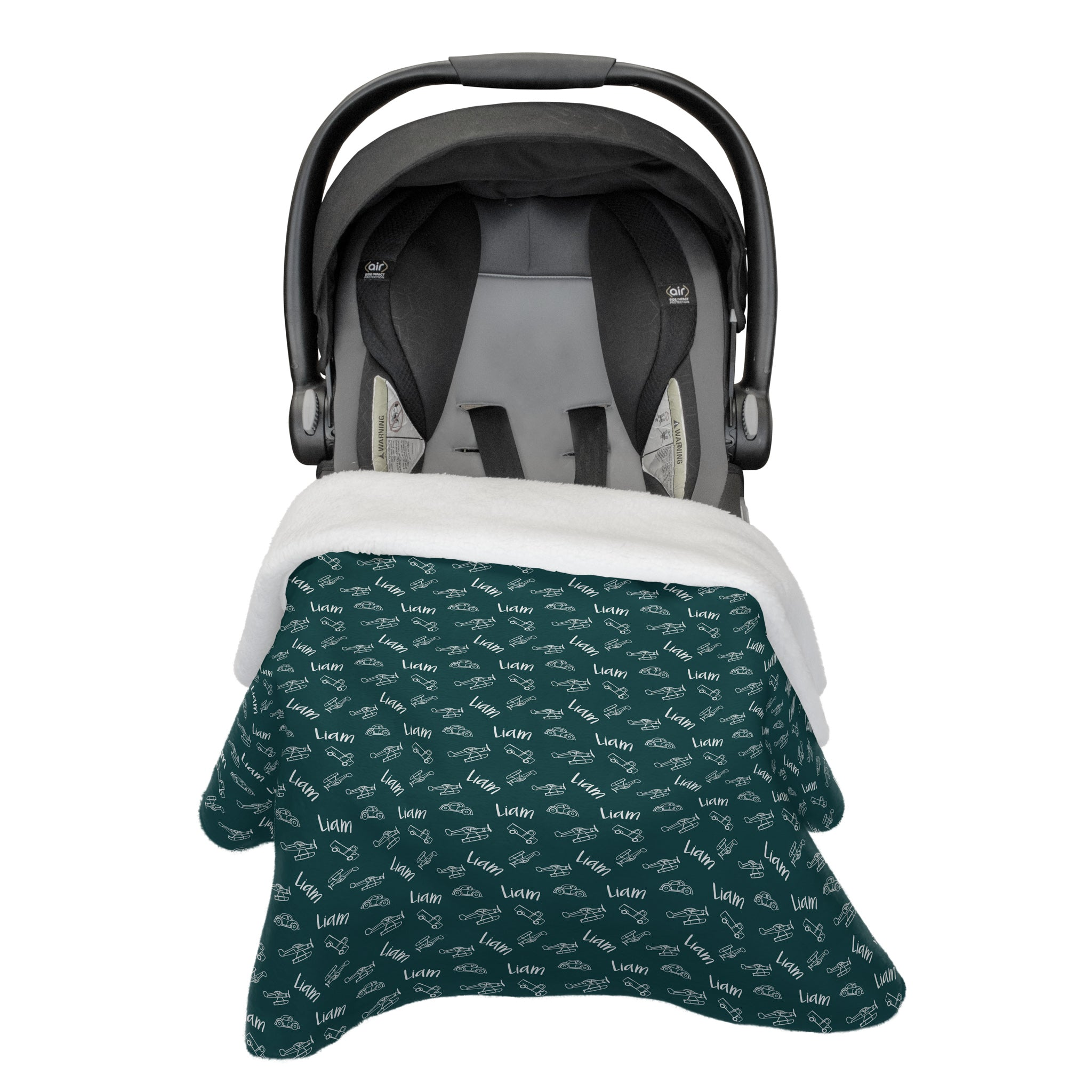 Liam's Wings and Wheels | Car Seat Blanket