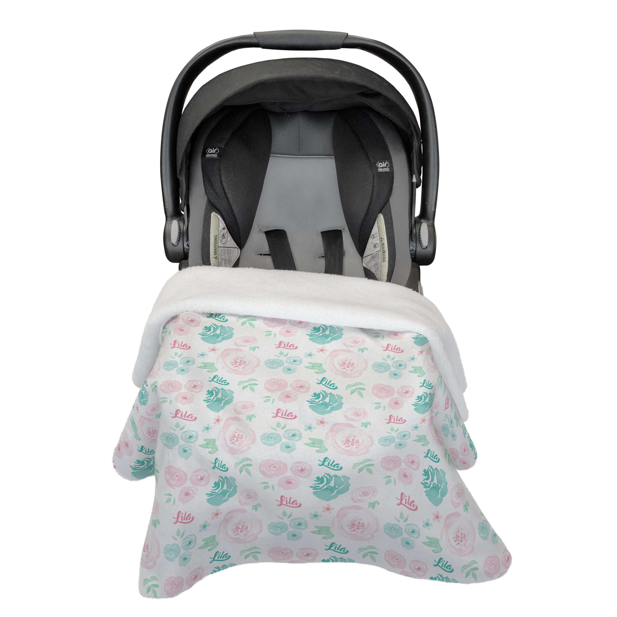 Lila's Summer Floral | Car Seat Blanket