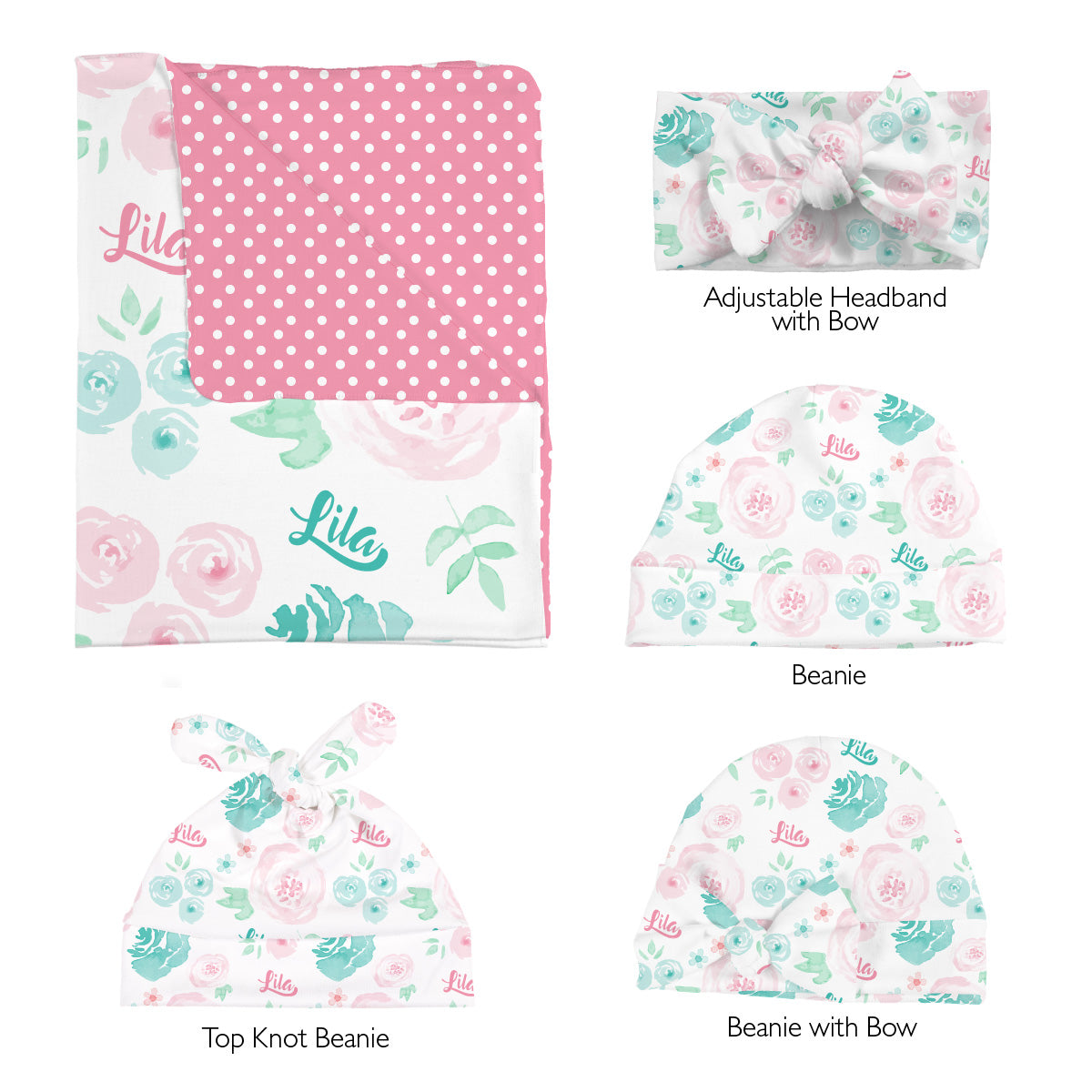Lila's Summer Floral | Swaddle Set