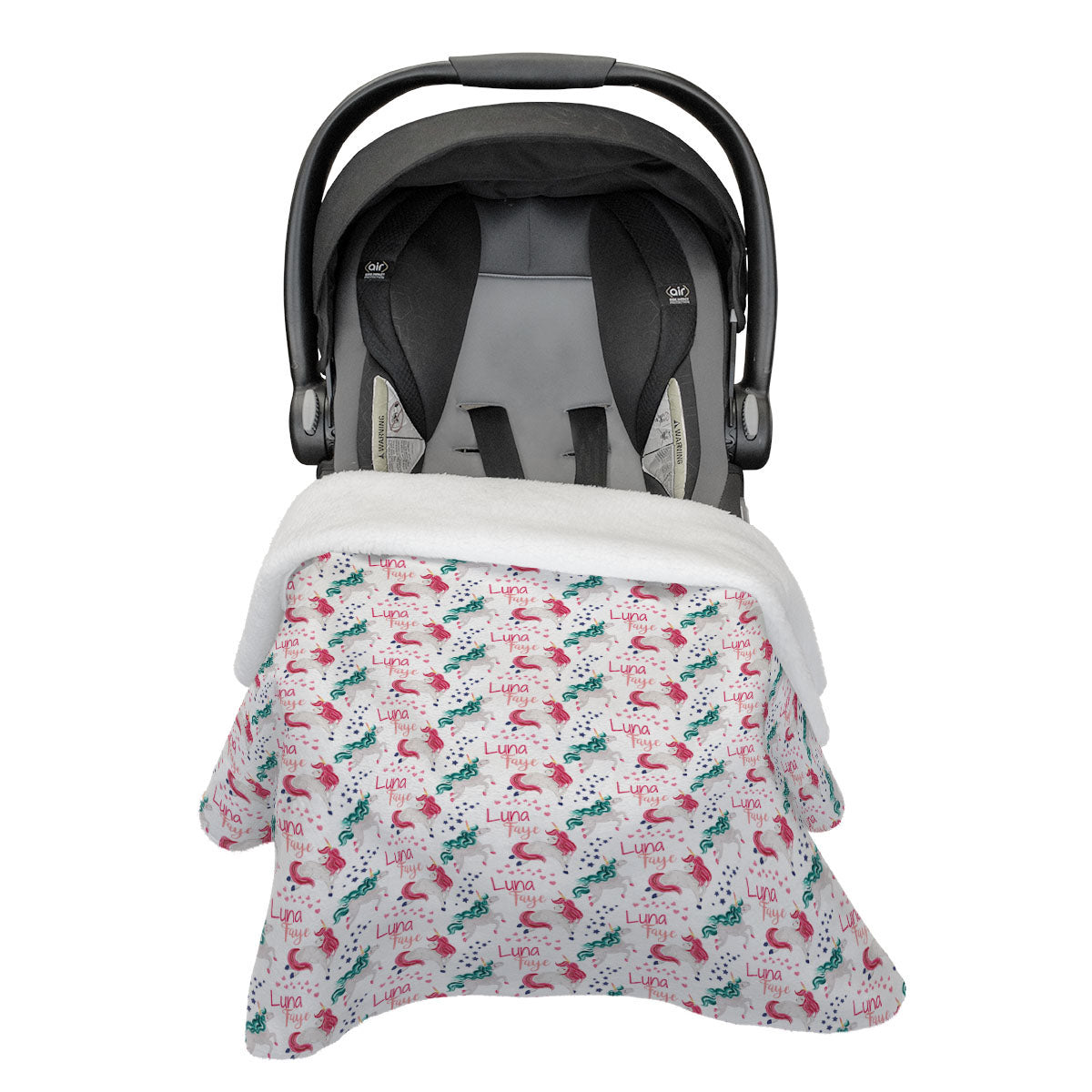 Luna's Magical Unicorn | Car Seat Blanket