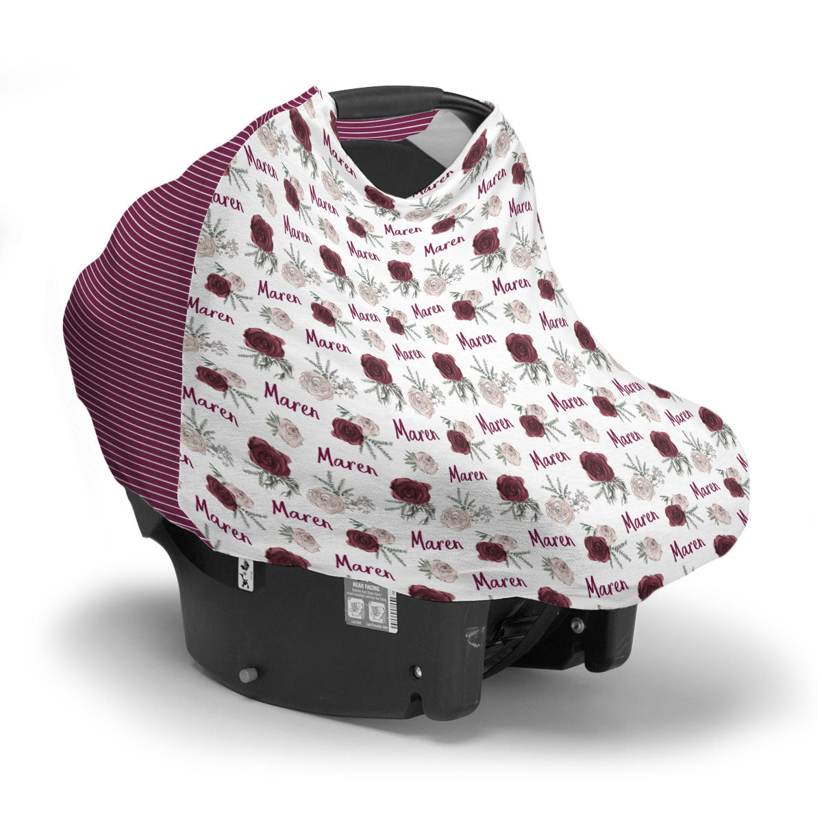 Maren's Winter Floral | Car Seat Cover (Multi-Use)