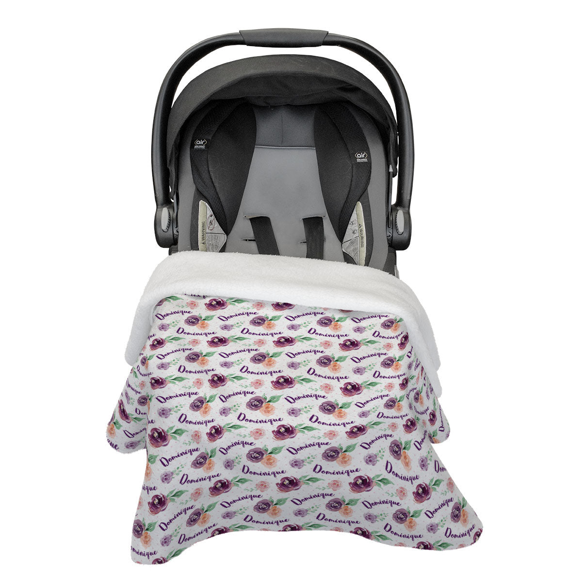 Margot's Magenta Floral | Car Seat Blanket