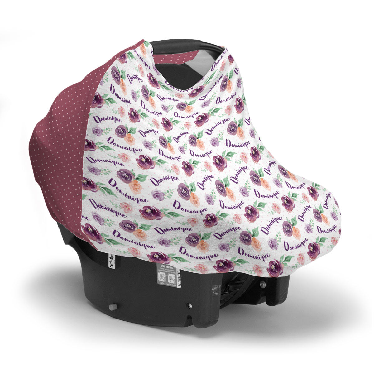 Margot's Magenta Floral | Car Seat Cover (Multi-Use)