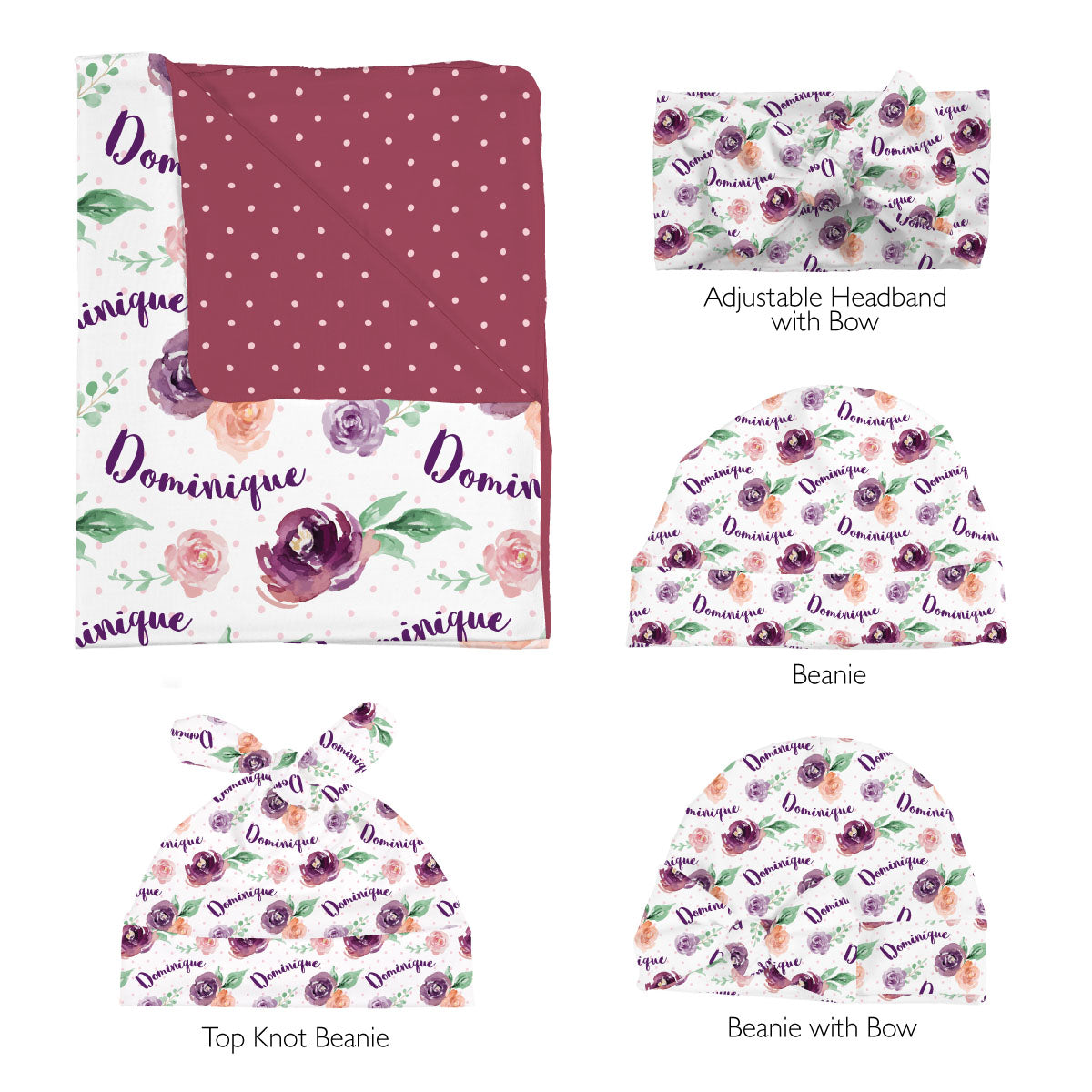 Margot's Magenta Floral | Swaddle Set