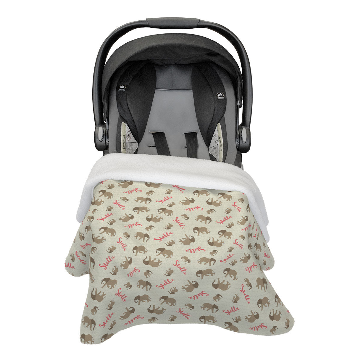 Nyala's Elephant Expedition | Car Seat Blanket