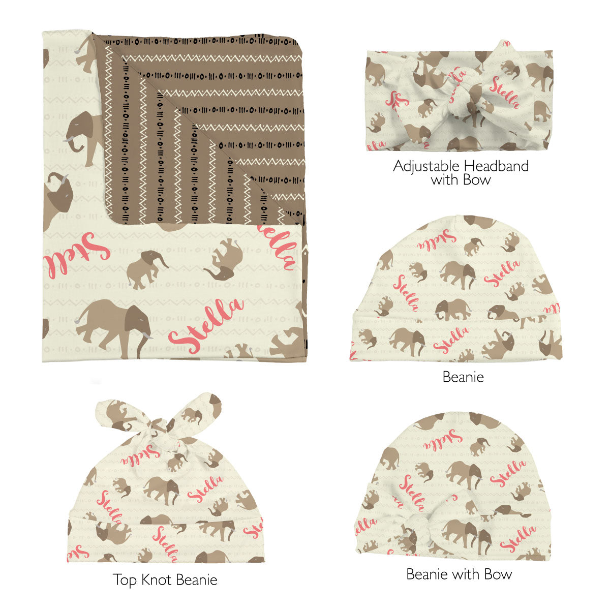 Nyala's Elephant Expedition | Swaddle Set