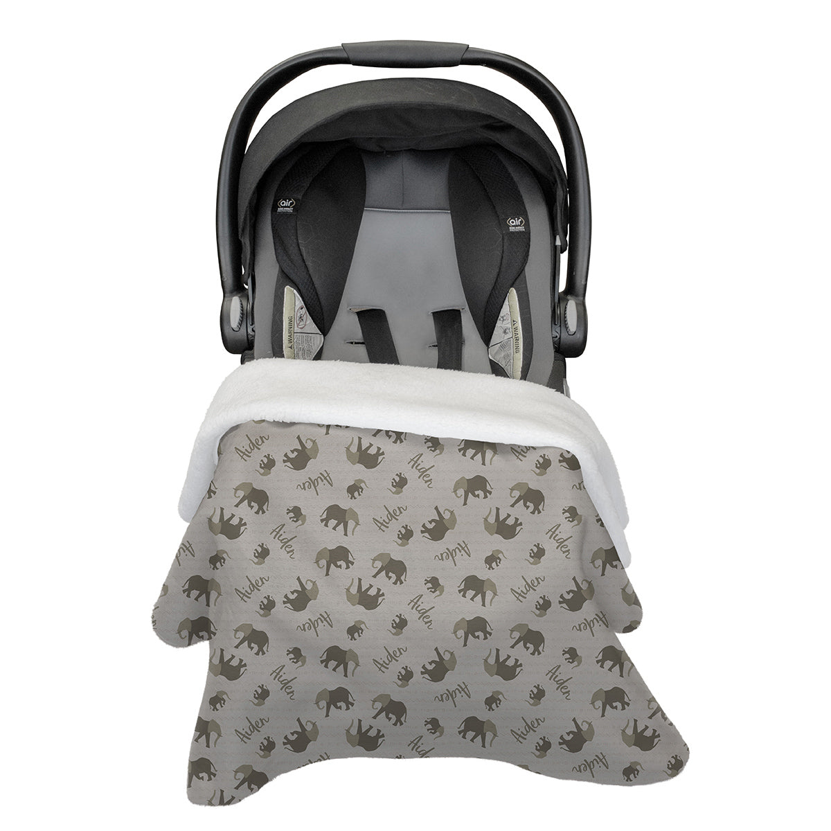 Obasi's Elephant Expedition | Car Seat Blanket