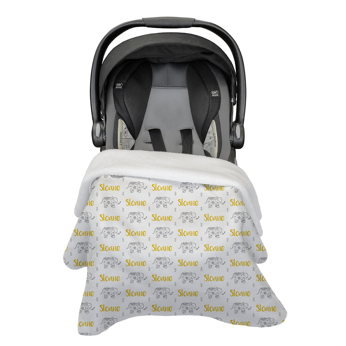 Oliver's elephant parade | Rose Garden | Car Seat Blanket
