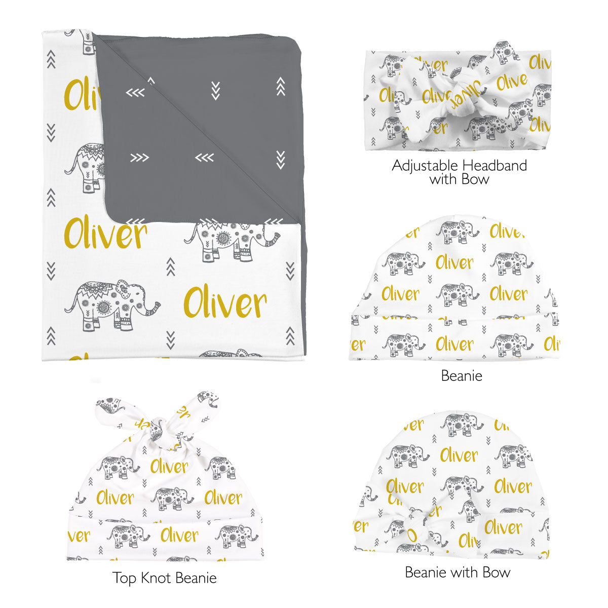Oliver's Elephant Parade | Swaddle Set