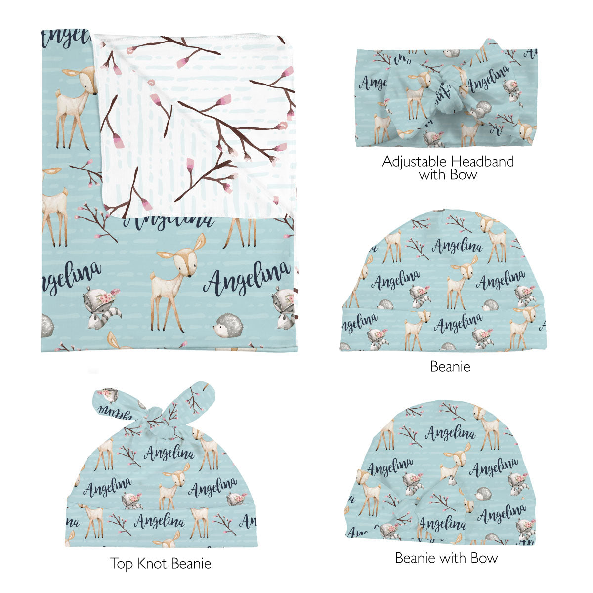 Penelope's Woodland Deer | Swaddle Set