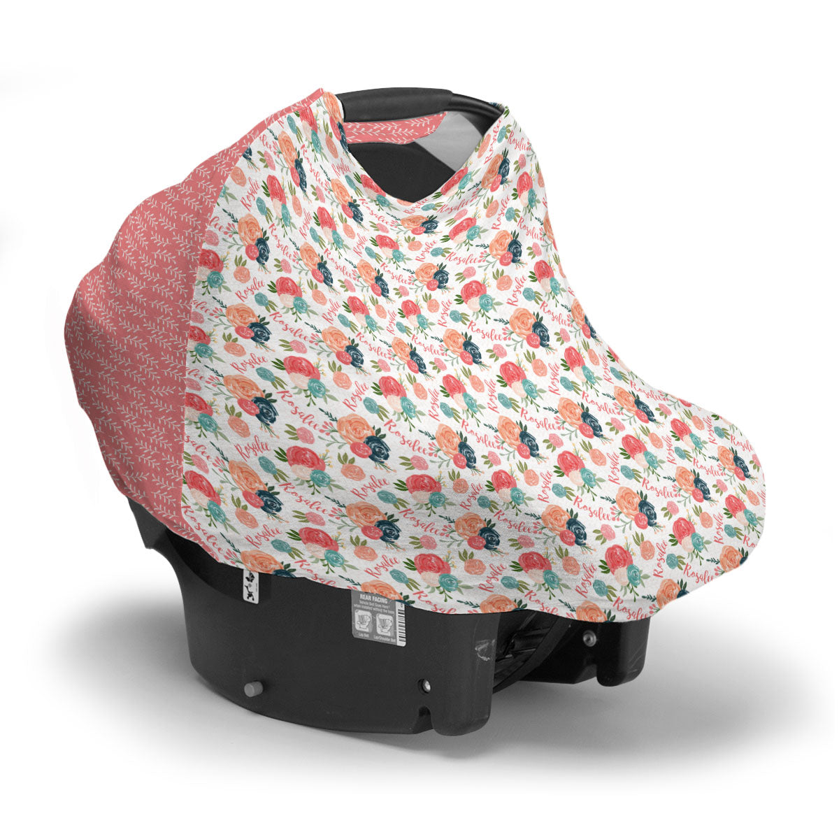 Rosalee's Blush And Blue Floral | Car Seat Cover (Multi-Use)