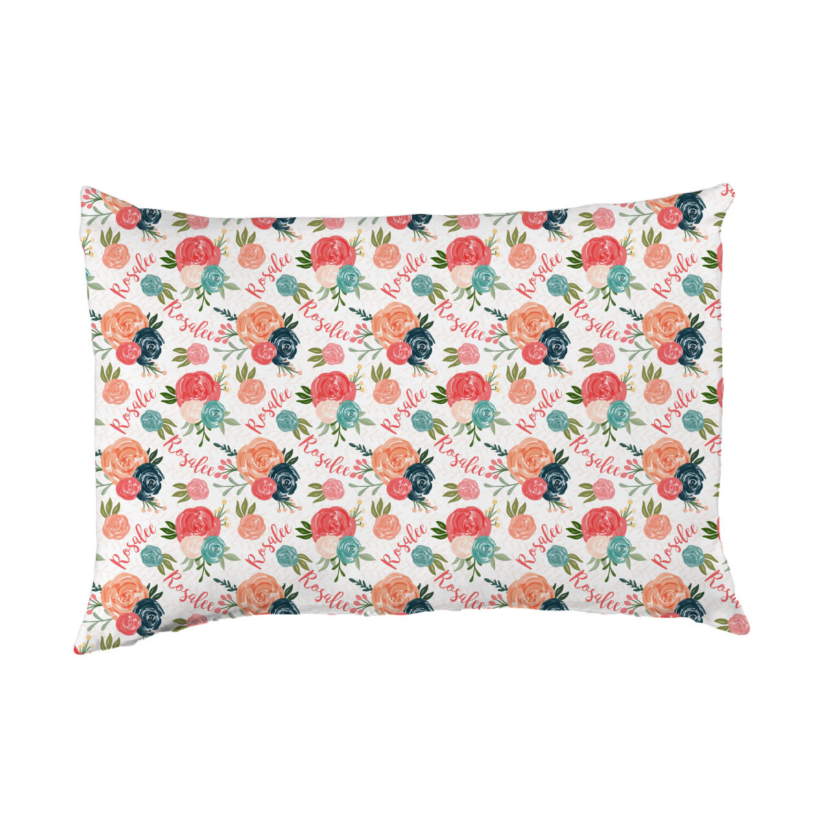 Rosalee's Blush & Blue Floral | Big Kid Pillow Case