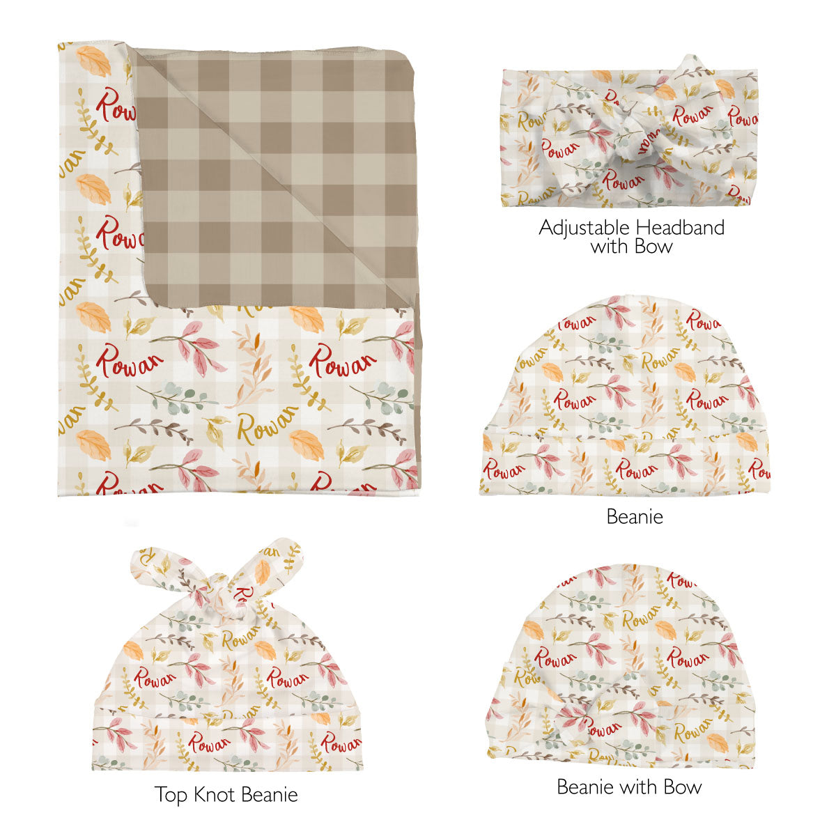 Rowan's Fall Leaves | Swaddle Set