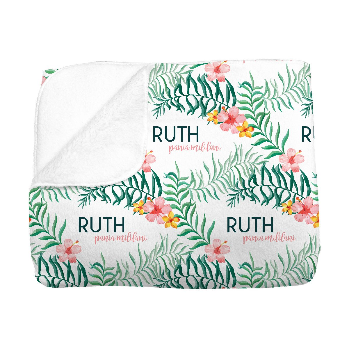 Ruth's Pua Lei | Big Kid Blanket