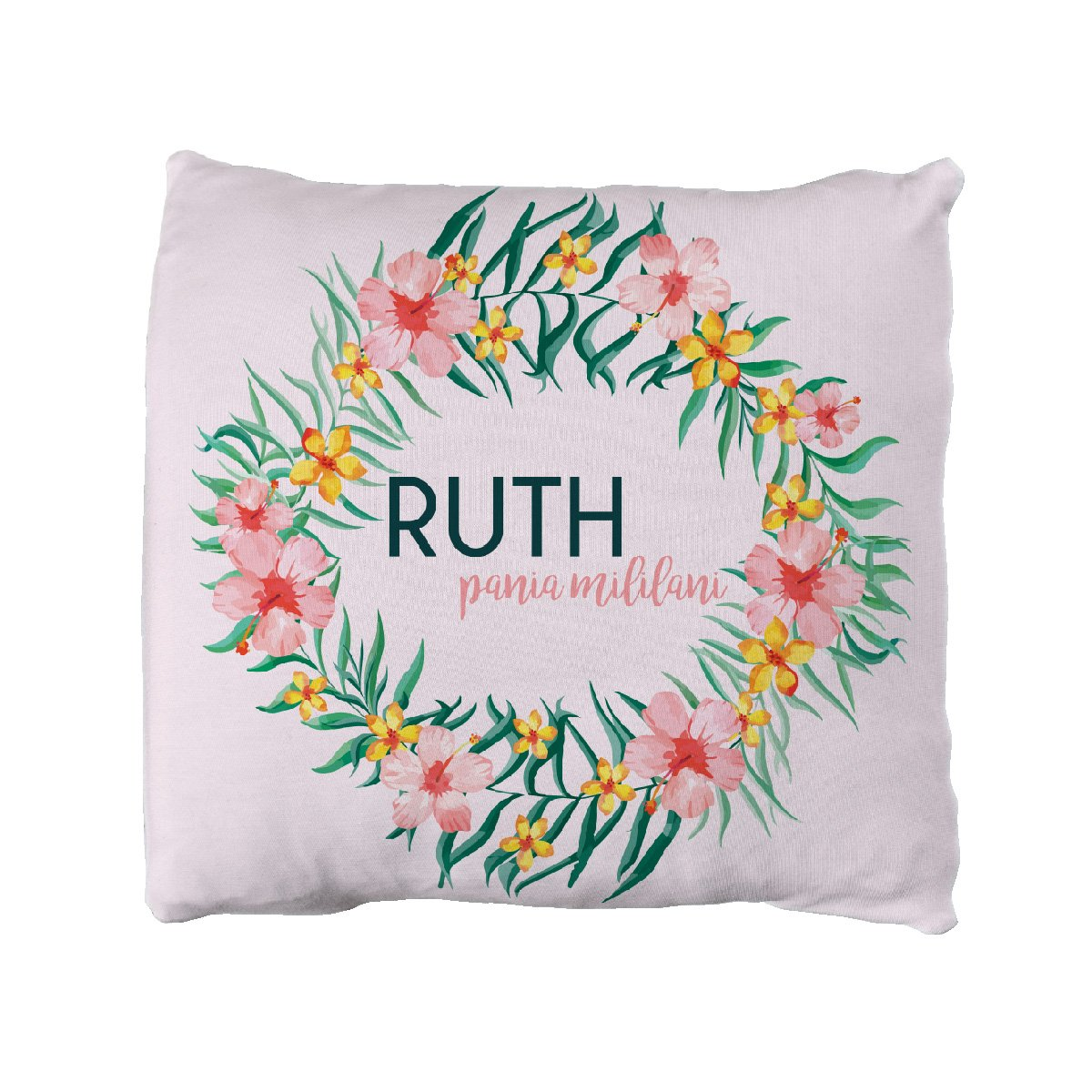 Ruth's Pua Lei | Big Kid Throw Pillow