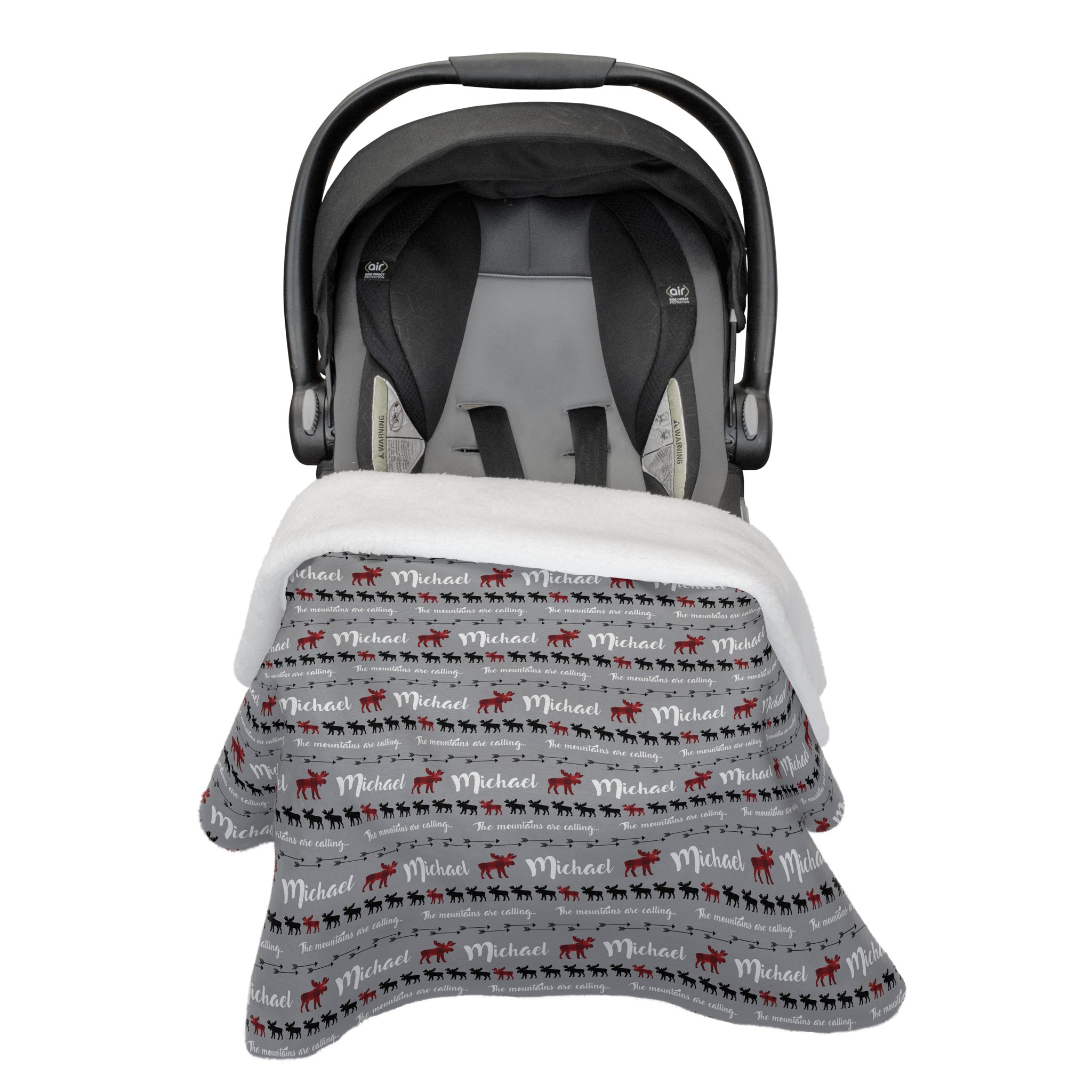Sam's Moose Mountains Are Calling | Car Seat Blanket