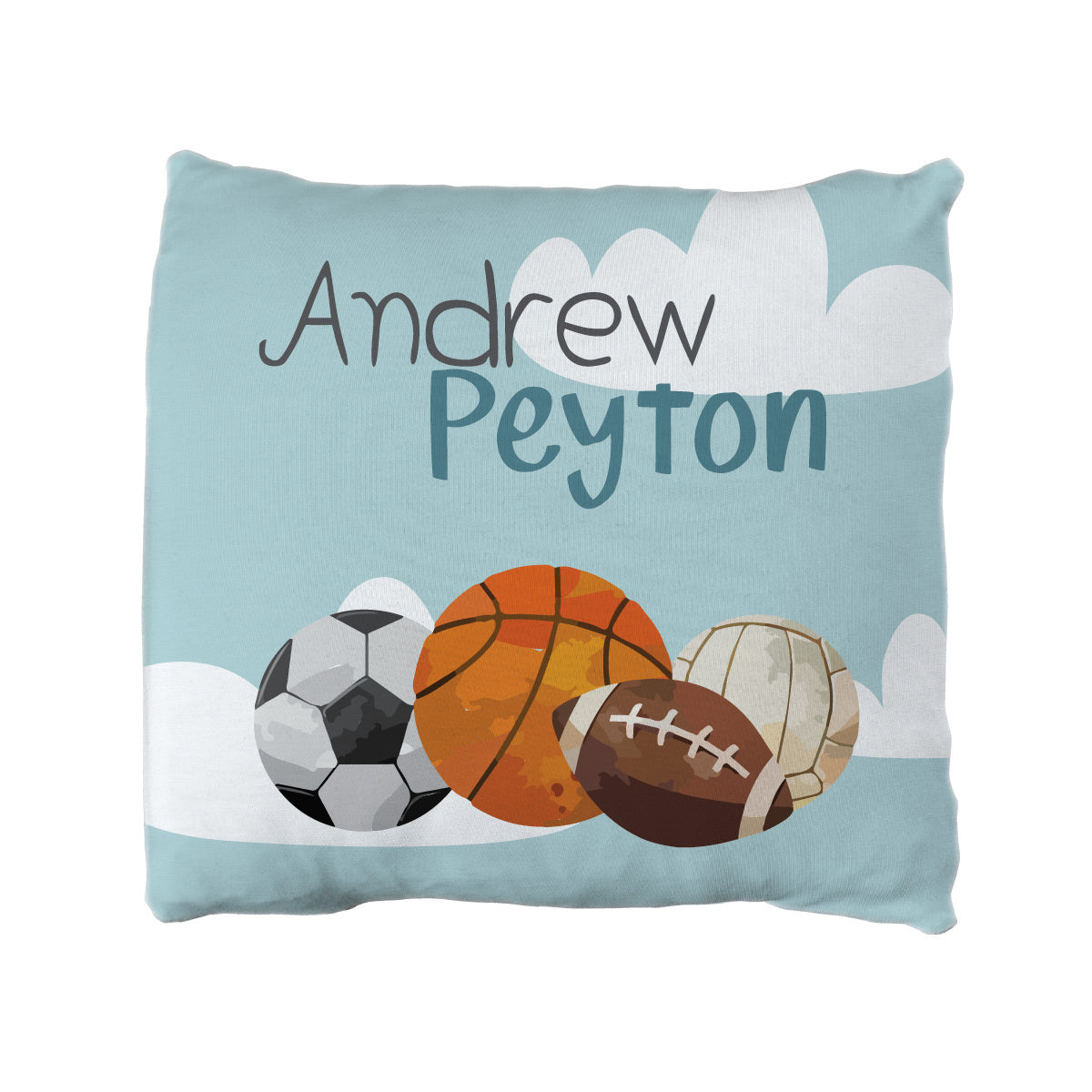 Sean's Sports | Big Kid Throw Pillow