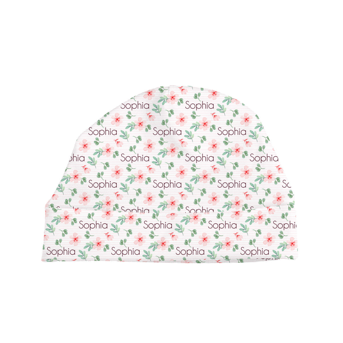 Sophia's Pinstriped Impatiens | Baby Hat
