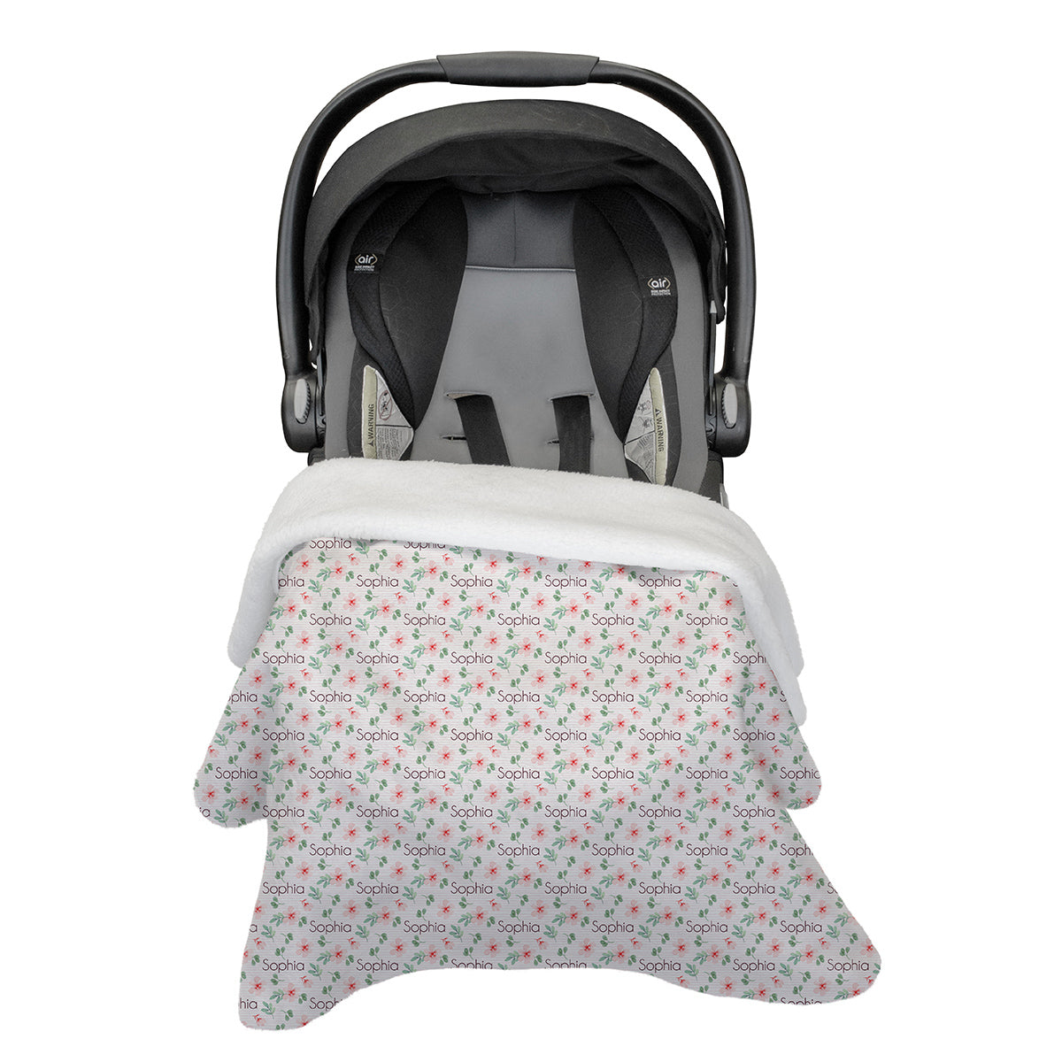 Sophia's Pinstriped Impatiens | Car Seat Blanket