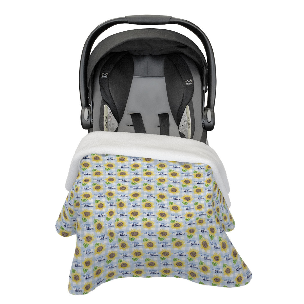 Summer's Sweet Sunflower | Rose Garden | Car Seat Blanket