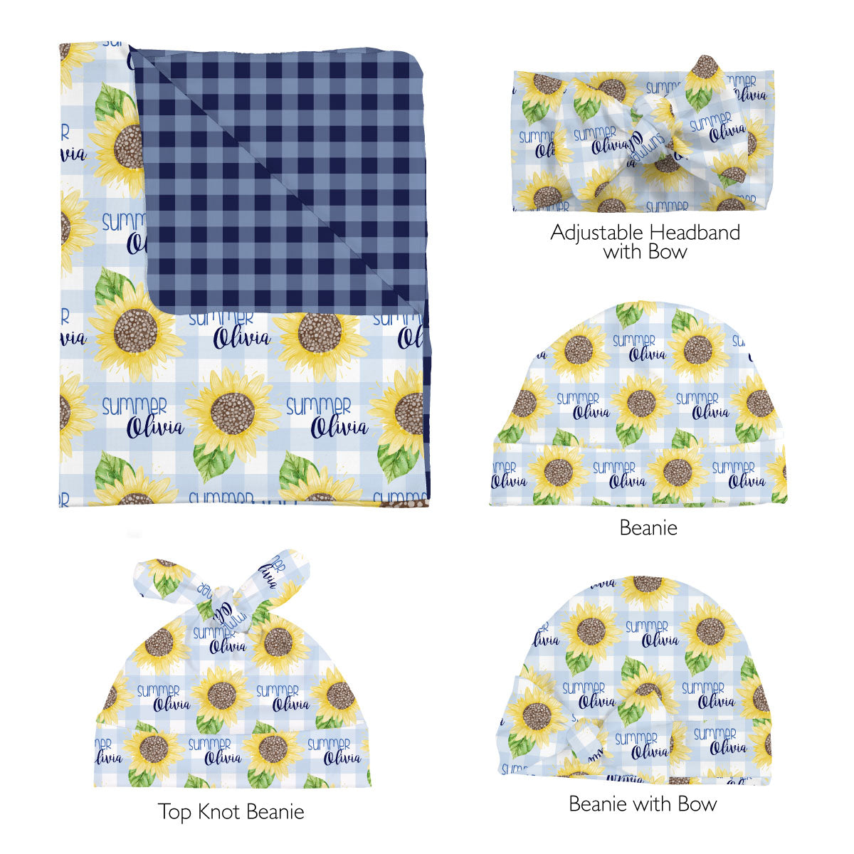 Summer's Sweet Sunflower | Swaddle Set