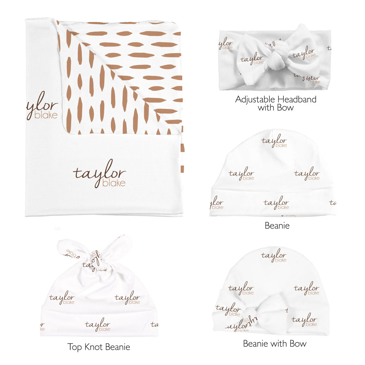 Taylor's Simple Dashes | Swaddle Set