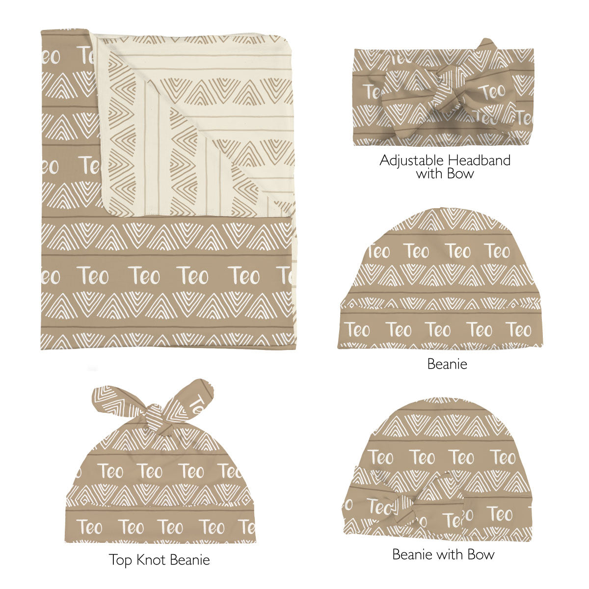 Teo's Sketchy Triangles | Swaddle Set