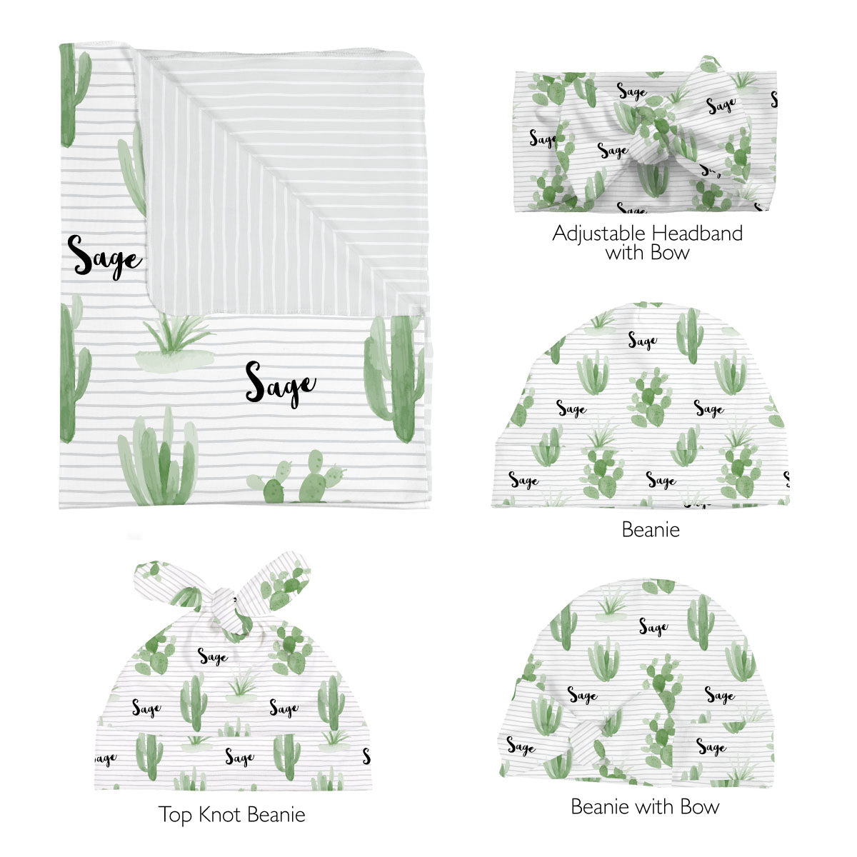 Tera's Earthy Cactus | Swaddle Set