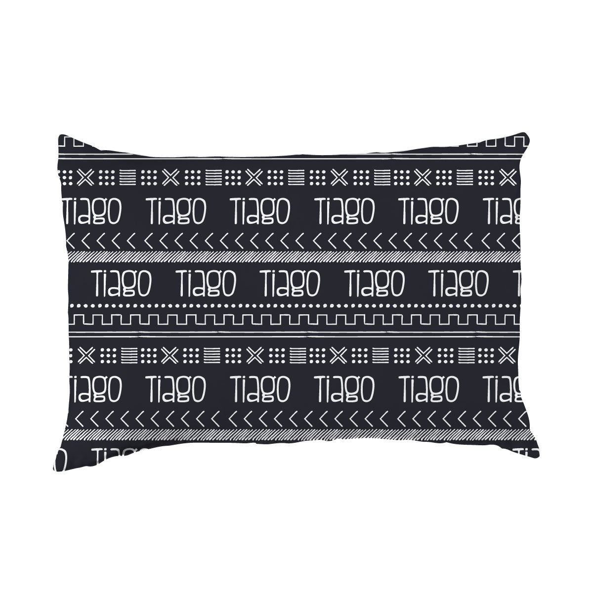 Tiago's Charcoal Tribe | Big Kid Pillow Case